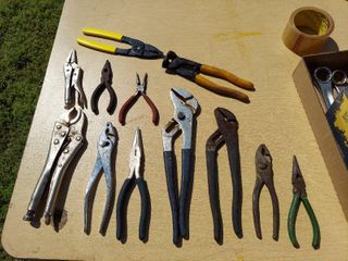 Assorted Pliers and locking Pliers