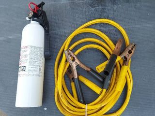 Jumper Cables and Fire Extinguisher