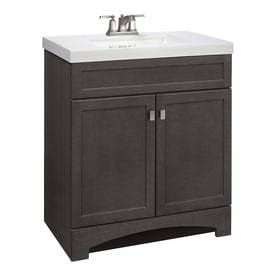 Style Selections Drayden Grey Integral Single Sink Bathroom Vanity With Cultured Marble Top
