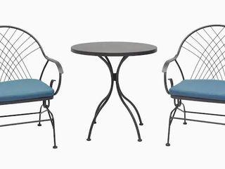 Weddington 3pc Bistro Set  2 Chairs  1 Table  Retail 248 00