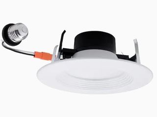 Utilitech Integrated lED 5    6  65W White Round Dimmable Recessed light lT6 129