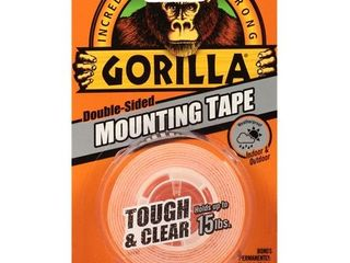 Gorilla Mounting Tape Clear  1  x 60