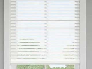 levolor 2 5 in Cordless White Faux Wood Blinds  62 x 72