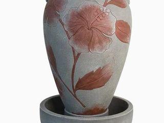 Garden Treasures Floral Vase Fountain 34 76  Resin Fountain