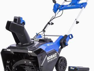 Kobalt 80v Max 22  Single stage Cordless Snow Blower
