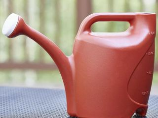 Allen   Roth Watering Can 2 Gallon Red Plastic Classic Watering Can