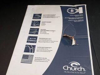 Church Plastic Round Slow close Toilet Seat  Biscuit 16 5