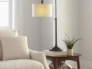 Allen roth Table lamp Bronze Finish Oatmeal linen Fabric Shade  35 5  H