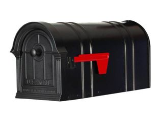 Postal PRO Manchester Black Steel and Aluminum Post Mount Mailbox