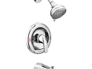 Moen Chrome Adler Tub  amp  Shower Faucet Set