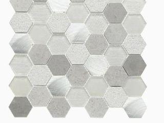 GBI Tile   Stone Wall Tiles 9 69 sq ft Dove Grey Hex Mosaic 10pcs