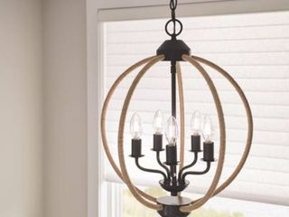 Kichler Clove Hitch 5 light Chandelier with Rope Accents
