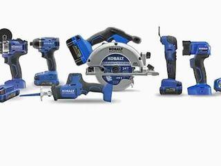 Kobalt 24V Max Brushless 6 Tool Combo Kit  Retail 499 00