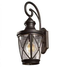 allen   roth Castine 20 38 in H Rubbed Bronze Outdoor Wall light