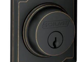 Schlage B60n cam Single Cylinder Keyed Entry Grade 1 Deadbolt  Aged Bronze