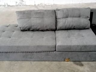 Part of a Chaise lounger   NEW   Missing Ottoman  Arm   legs   Grey  81  W x 33  D