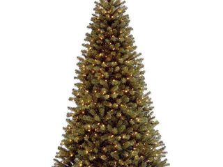 National Tree 9  North Valley Spruce Tree  Hinged  700 Clear lights  NRV7 300 90