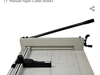 PPE 17  Manual Paper Cutter   Model  858A3 Cut Up to 400 Sheets