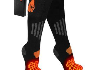 ActionHeat Wool AA Battery Heated Socks   Black S M