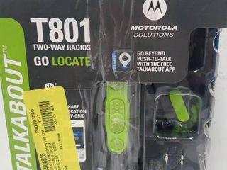 Motorola Talkabout T801 Two Way Radios  2 Pack  Black Green