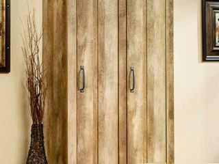 Sauder Adept Wide Storage Cabinet   Craftsman Oak Finish   Model Number  418141 Retails over  350