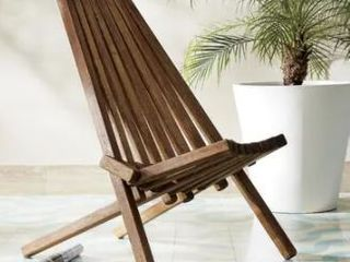 DREAMPATIO AMAYA Folding Wooden Outdoor Chair  Retail 109 99