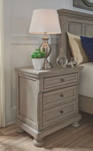 The Gray Barn Canterbury Burnished Grey Two Drawer Night Stand  Retail 470 99