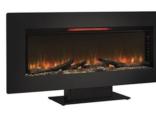 Felicity 47  Wall Mounted Infrared Quartz Fireplace  Black Glass Frame  Retail 345 99