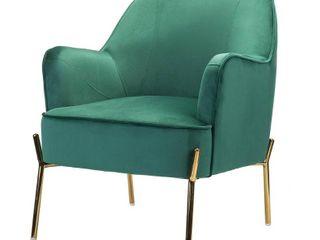 Nora Premium Velvet Upholstered Accent Chair  Retail 238 99