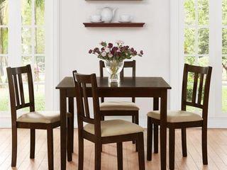 Dorel living Redmond Espresso 5 piece Traditional Height Dining Set  Retail 368 49