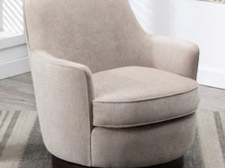 Rosedale Wood Base Swivel Accent Chair by Greyson living  Retail 559 99