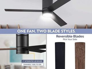 Intertek 52 Inch Matte Black Ceiling Fan
