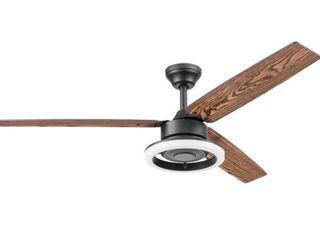 52  Prominence Home Orbis lED Modern Ceiling Fan with Remote  Matte Black  Retail 166 99