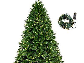 Realistic Artificial Christmas Tree  Foldable Small Christmas Tree with 150 lEDs String lights for 8 lighting Modes