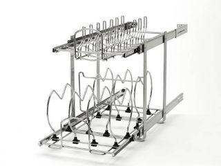 Rev A Shelf Small 2 Tier Cookware Organizer   11 75 W x 22  D x 18 H  Retail 116 99