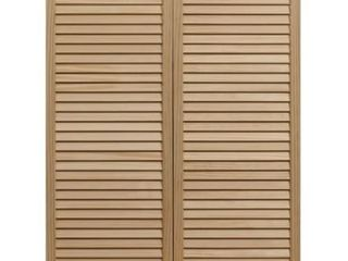 Dixieland 36x42 inch Unfinished louvered Cafe Doors  Retail 109 99