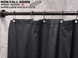 BRIOFOX Tension Curtain Rod Matte Black 73 103
