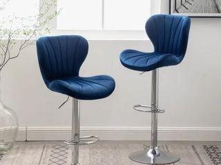 Ellston Upholstered Adjustable Swivel Barstools  Set Of 2  Retail 157 49