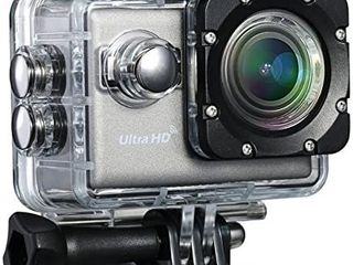 patec 4K UHD 20 MP action camera with Wifi and free app for Android and iOS Sport Waterproof camera Camcorder with Sony imx117 Exmor CMOS sensor  BSI   lCD and multi angle display Field of view