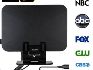 leadzm TA 105A Indoor Digital TV HDTV Antenna Amplifier UHF VHF 1080p 4K with stand
