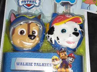 Miscellaneous bag of goodies  walkie talkie  Painting books