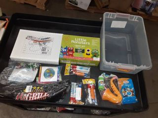 Miscellaneous latching box  craft kit and more