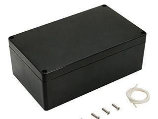 leMotech ABS Plastic Electrical Project Case Power Junction Box  Project Box Black 7 87 x 4 72 x 2 95 inch  200 x 120 x 75 mm
