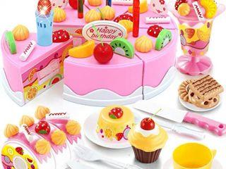 DIY fruit cake decoration kit 75 pcs birthday cake decoration kit DIY cake slicing and decorating kit