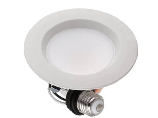 Commercial Electric 4 in  Color Temperature Selectable Integrated lED Recessed Trim  4 Pack