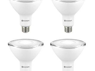 EcoSmart 90 Watt Equivalent PAR38 Non Dimmable Flood lED light Bulb Bright White  4 Pack