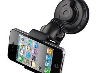 360 Universal Suction Glass Window Phone Holder In Black