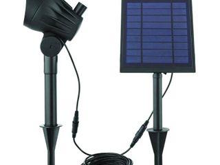 Hampton Bay Solar Black lED 150 300 lumen High low Metal Spotlight
