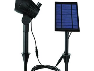Hampton Bay Solar Black lED 100 lumen Metal Spotlight