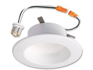 Halo 90CRI lED Recessed Retrofit Rl light with White Baffle Trim  4 Inch  600 lumens